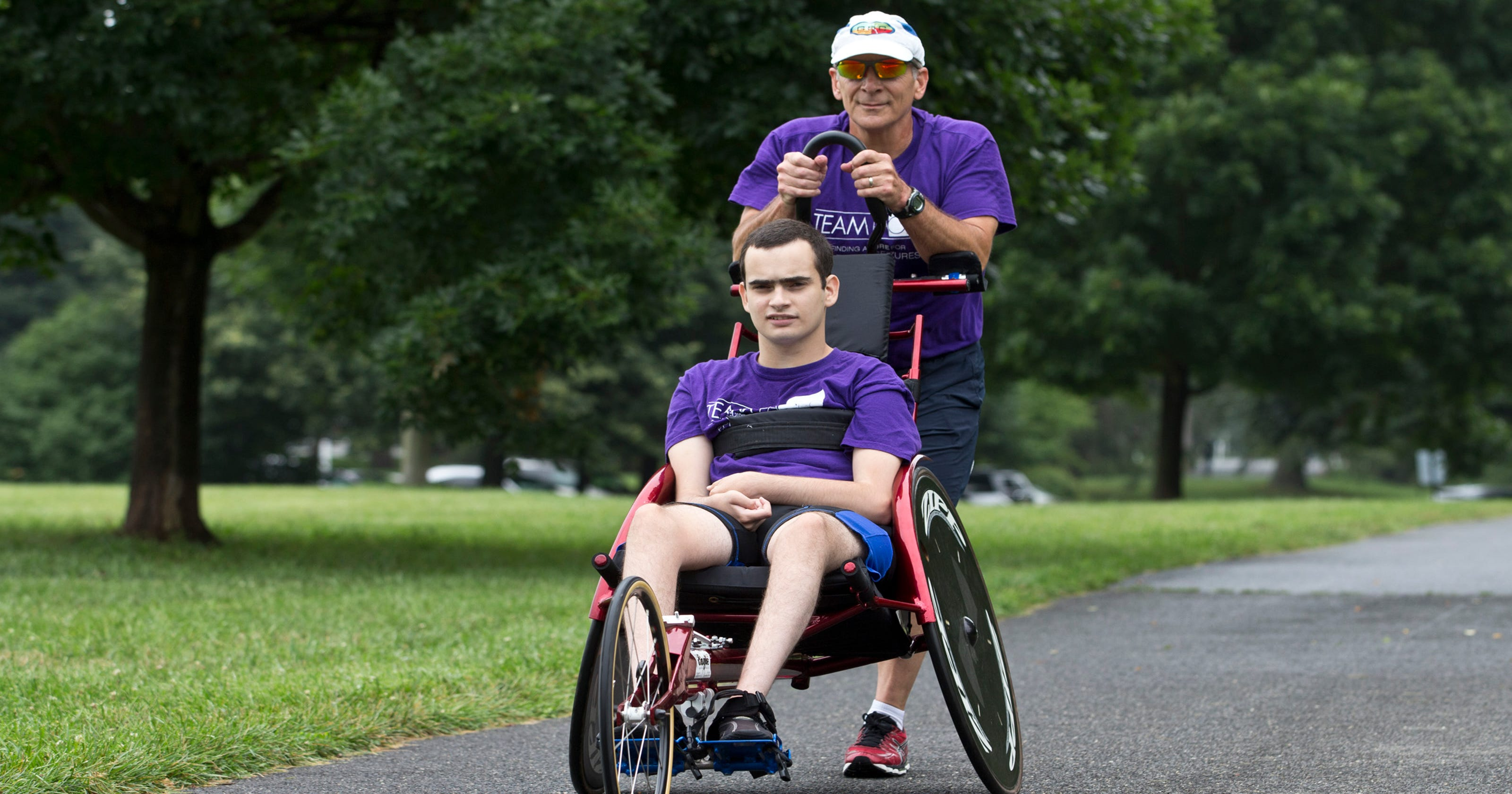 Father, disabled son become triathletes, prove 'anything is