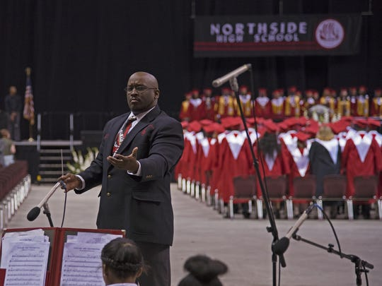 Northside High School band director Alexander Thomas
