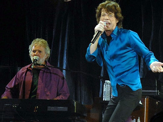 Chuck Leavell with, well, Mick.
