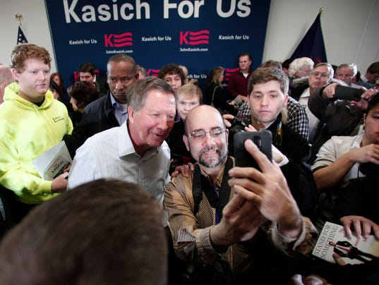 GOP Presidential Candidate John Kasich Holds Town Hall In Michigan