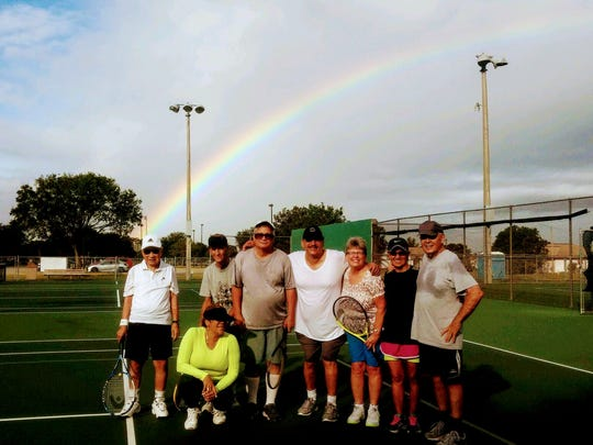 Pancho Mauricio, a survivor of the Bataan Death March, celebrated his 100th birthday on Nov. 17 by playing tennis with friends at Hancock Park in Cape Coral.
