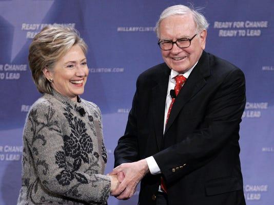 Warren Buffett, Hillary Clinton