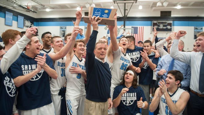 Shawnee defeated Atlantic City, 61-48, in the South Jersey Group 4 boys basketball final played at Shawnee High School in Medford.