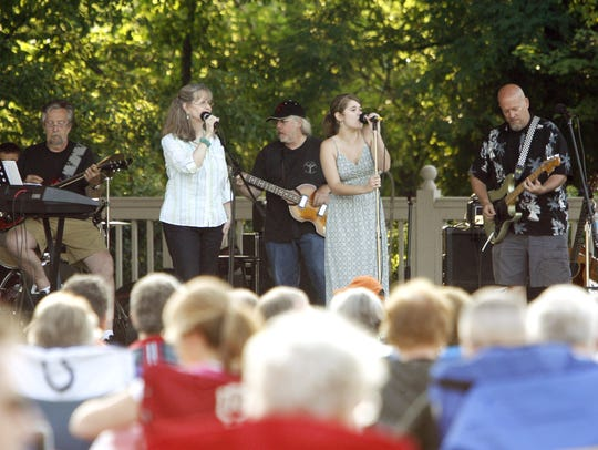 Michele Haddix and Audio Diner performed at the Gazebo