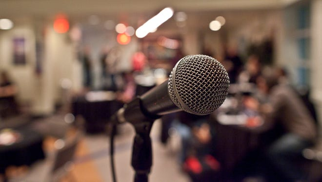 Microphone in a meeting room