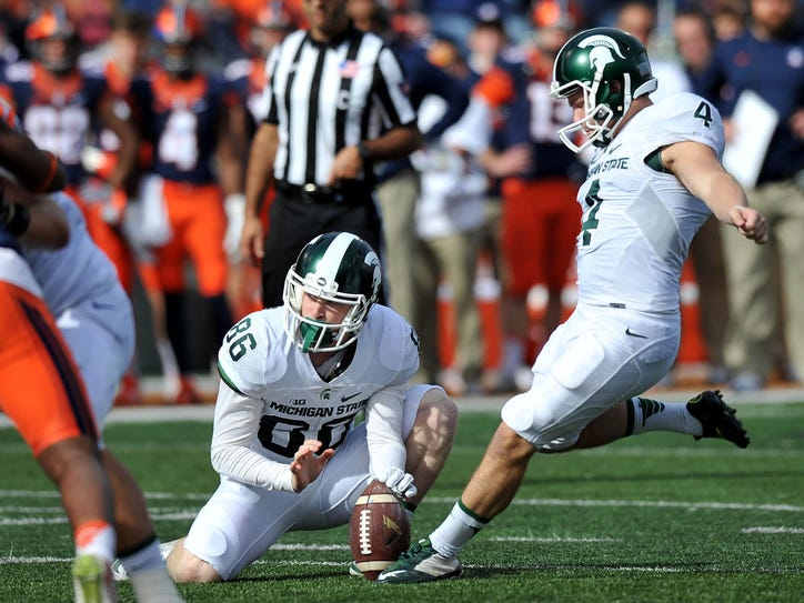 Michigan State will be looking to replace kicker Michael