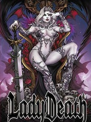 """Lady Death's """"Damnation Game"""" graphic novel met its Kickstarter goal in just six minutes earlier this month."""