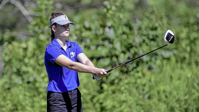 Callie Hribar was one of four Bradley girls golfers who earned all-league honors as the Jaguars finished fourth in OCC-Cardinal play.