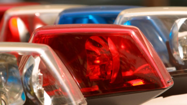 Close-up of emergency lights