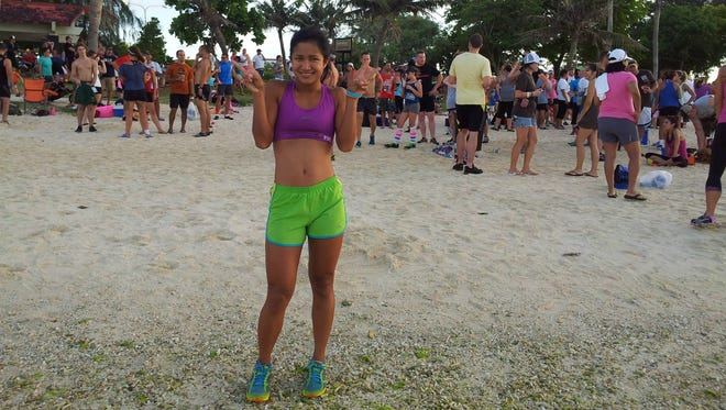The fourth Guam Beer Mile Classic is scheduled for Sunday at Ypao beach. Runners will consume one can of beer before each quarter of the one-mile race. Ayshalynn Perez was among the stars during the 2013 event.