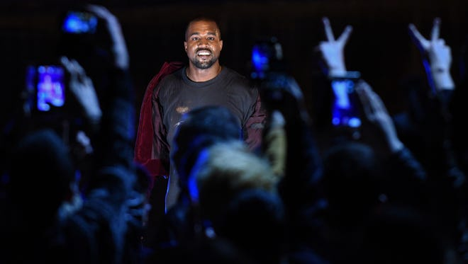 Kanye West performs in Yerevan, Armenia, in April 2015. He will release his new album this week.