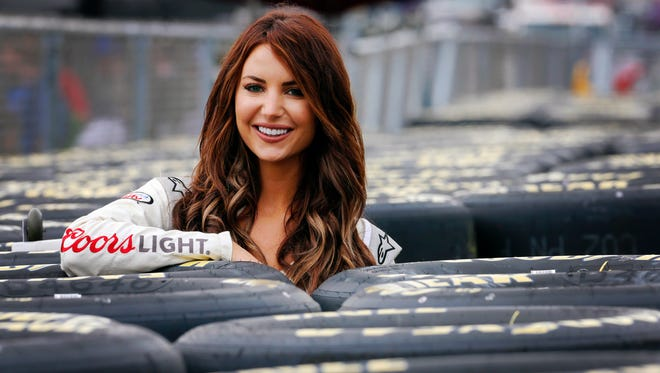 """Amanda Mertz, the former Miss Kentucky, is now NASCAR's """"Miss Coors Light"""" and back home for Saturday's Quaker State 400."""