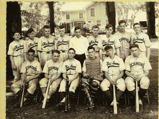 The 1943 Richmond High School baseball team – Champlain Valley League champions.