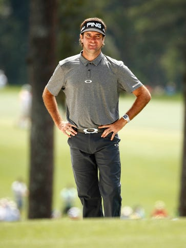 Bubba Watson on the 1st fairway during the third round