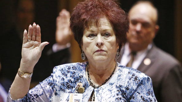 Arizona Sen. Sylvia Allen takes the oath of office
