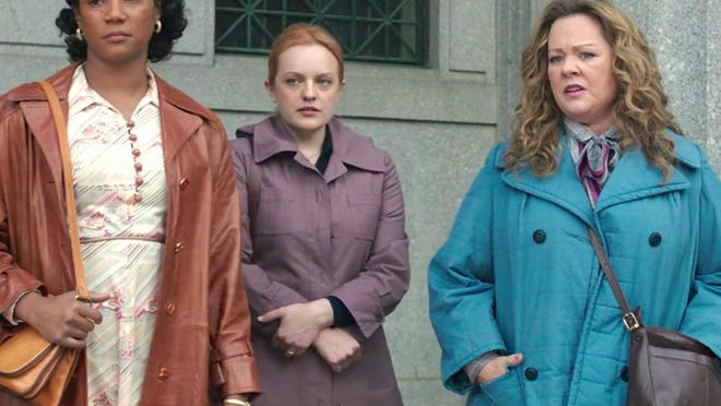 """Tiffany Haddish, Elisabeth Moss and Melissa McCarthy star in """"The Kitchen"""" on HBO."""