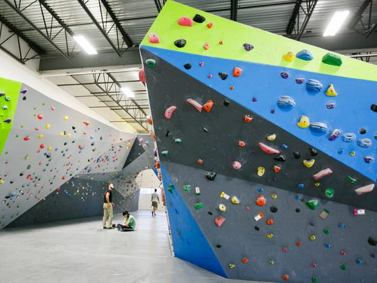 Indoor bouldering gym Rock Boxx has a variety of climbing routes, ranging from beginner to advanced, in their 5,400 square foot facility.