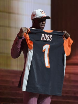John Ross (Washington) is selected as the number 9 overall pick to the Cincinnati Bengals in the first round the 2017 NFL Draft at the Philadelphia Museum of Art.