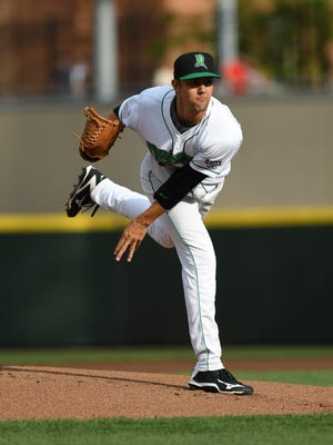 Dayton Dragons pitcher Scott Moss threw six hitless innings, walking three and striking out five as part of a combined no-hitter on Saturday.