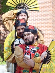"""From top, Harlan Mapp, Eric Botto and Peter Lake perform as Pang, Pong and Ping from Giacomo Puccini's opera """"Turandot"""" in Hattiesburg. The Jackson performance will be held April 28."""