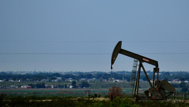 A pumpjack located west of Carlsbad, New Mexico.