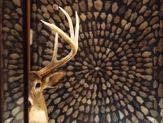 A deer on display at Guntzviller's Spirit of the Woods