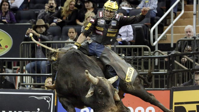 Professional Bull Riders and the beasts they're trying to conquer take over Bridgestone Arena this weekend.