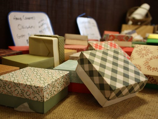 Markoff Farms sold hand crafted origami gift boxes