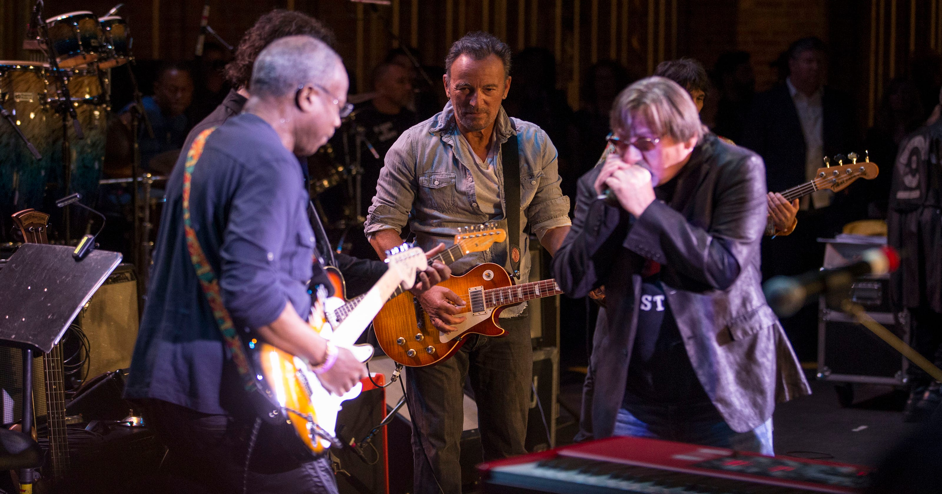 Bruce Springsteen And E Street Band Signed Upstage Jam Guitar Up
