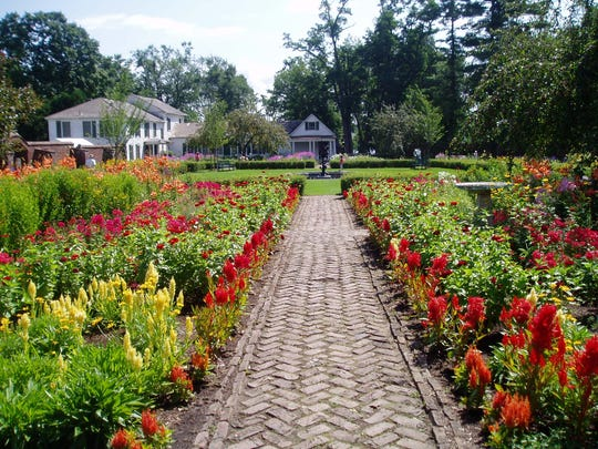 Gardens and walkways are part of the grounds at Fort Ticonderoga.