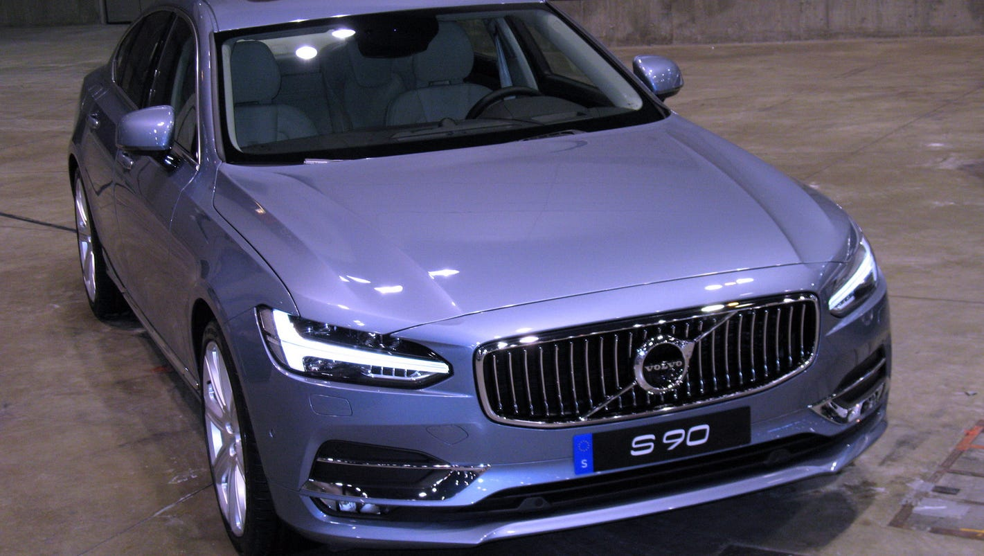 2017 volvo s90 sedan is brand 39 s technological flagship. Black Bedroom Furniture Sets. Home Design Ideas