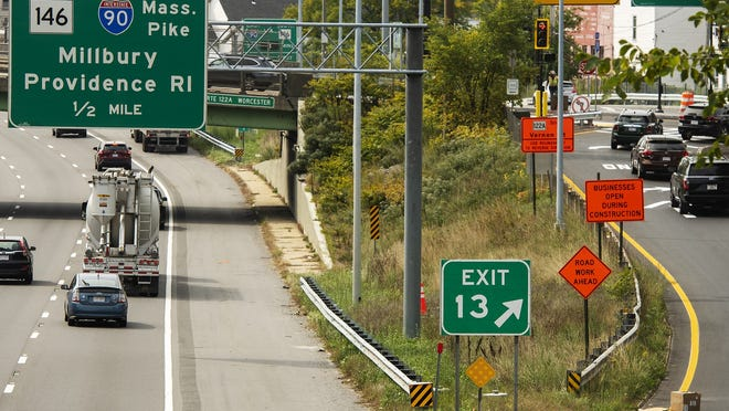 The Kelley Square exit from I-290 will be renumbered from exit 13 to exit 17 soon. Exit 12 for Route 146 will become exit 16.