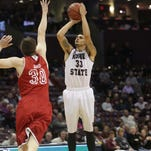 MSU's Chris Kendrick goes up for a shot.