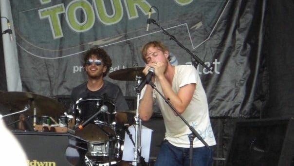 Andrew McMahon performs with his former band, Jack's Mannequin, at the Vans Warped Tour in 2008.