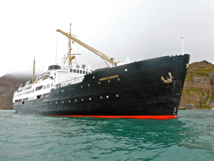 The beautifully restored MV Nordstjernen currently