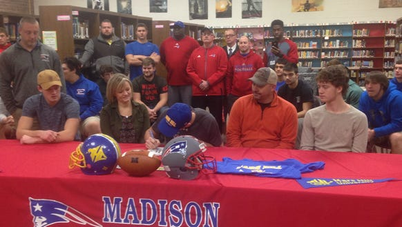Madison senior Colby Edwards has signed to play college