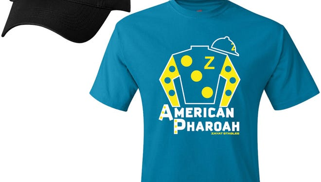 American Pharoah official t-shirts, hats being sold by All Pro Championships of Louisville