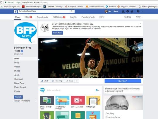Burlington Free Press Facebook page