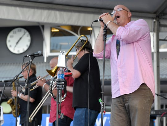 Transit Authority plays for a crowd in 2016 in St. Joseph.