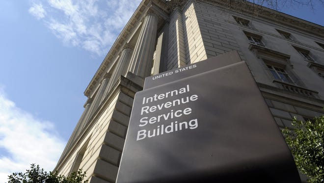 The exterior of the Internal Revenue Service (IRS) building in Washington.