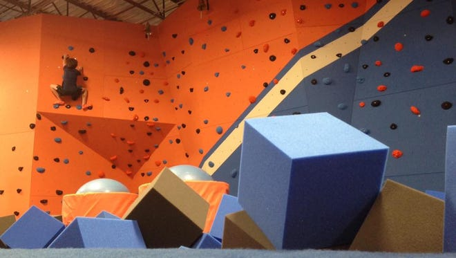 In addition to the wall-to-wall trampolines, Sky Zone in Rockledge also features a jousting pit, a climbing wall and more.