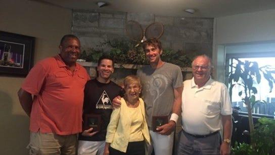 (Left to right) Donnie Jackson, Brad Goldberg, Margo