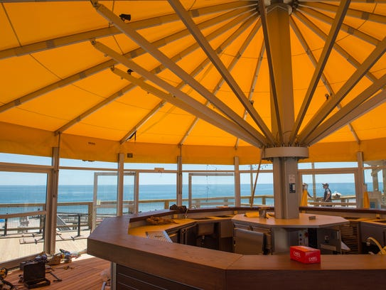 An interior view of the canopy at the Big Chill Beach
