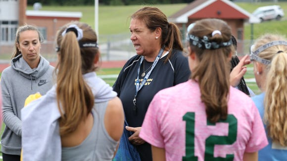 Lakeland High School Field Hockey coach Sharon Sarsen,