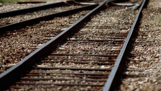File photo of train tracks.