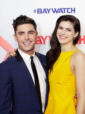 Zac Efron and Alexandra Daddario attend the Australian premiere of 'Baywatch' at Hoyts EQ on May 18, 2017 in Sydney, Australia.
