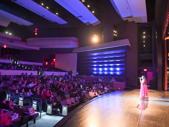 Singer Veena Kappaganthu performs during the Valley