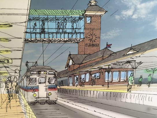 A rendering of the new Claymont train station is shown.
