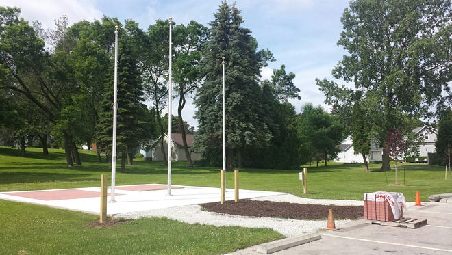 Blank bricks have been installed at the Memorial Brick Area at Manitowoc's Red Arrow Park. A re-dedication of the park will be July 15.