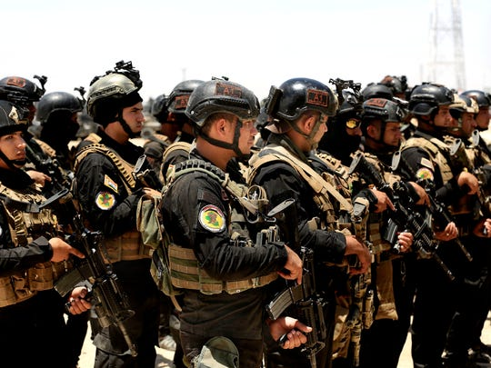 Iraq's elite counter-terrorism forces gather ahead